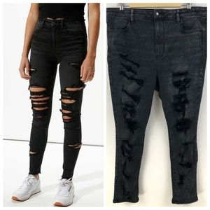 American Eagle Next Level Stretch Ripped Jeans 18